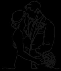 Illustration Mariés fond transparent Mariage au vert